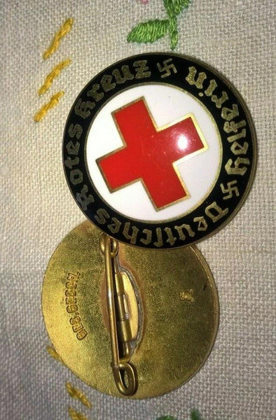 DRK Badge REPLICA Deutsches Rotes Kreuz, Helferin - Konig Books