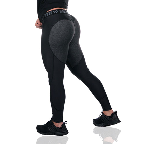 NEW BOOTYFIT 'GREY LOVE' GYM LEGGINGS - bum enhancing gym leggings for comfort, yoga and running.