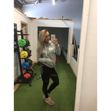 NEW - BOOTYFIT 'EVERYDAY' GREY HOODIE - Bootyfit gym leggings so women can workout in comfort Ladies fitness pants yoga pants for gym exercise perfect tights for workouts in the gym.