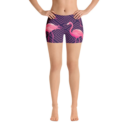 Crazy Flamingo Booty Shorts By Bootyfit™️