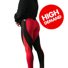 BOOTYFIT 'ORIGINAL' RED AND BLACK GYM LEGGINGS