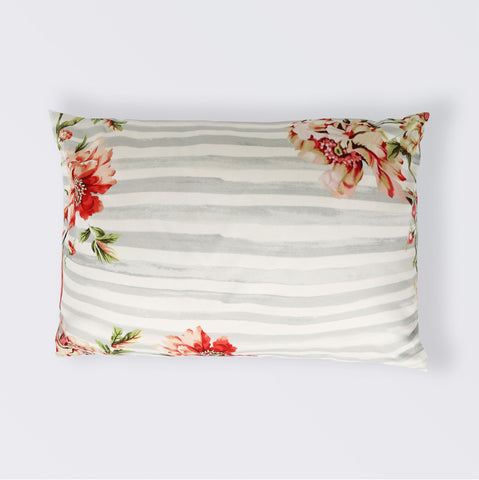 CUSHION FLAMINGO STRIPES