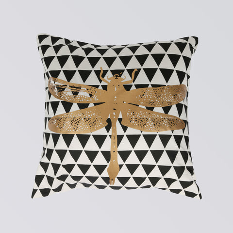 CUSHION DRAGON FLY BLACK