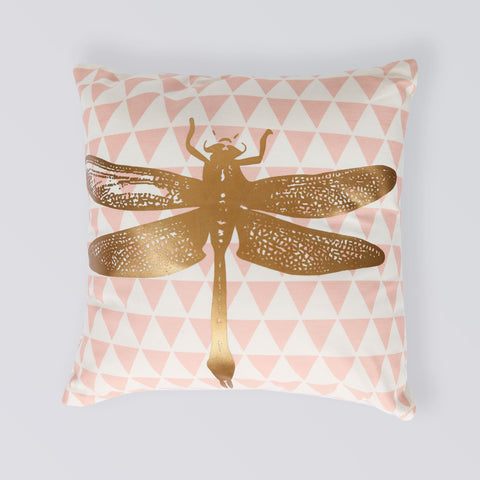 CUSHION DRAGON FLY PINK