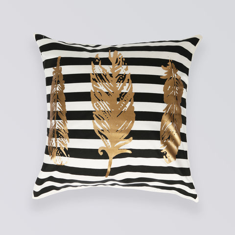 CUSHION FEATHERS BLACK
