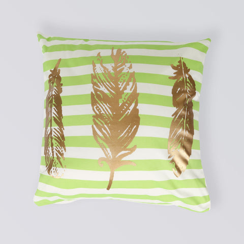 CUSHION FEATHERS GREEN