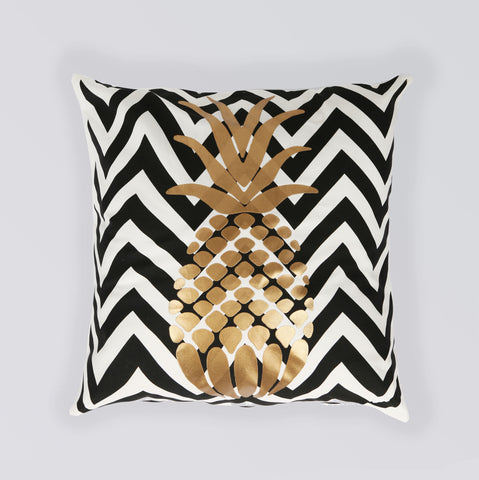 CUSHION PINEAPPLE BLACK