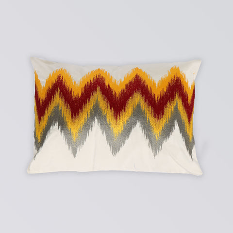 CUSHION CHEVRON EMBROIDERY