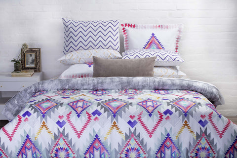 Duvet Cover-Geometric Tribal