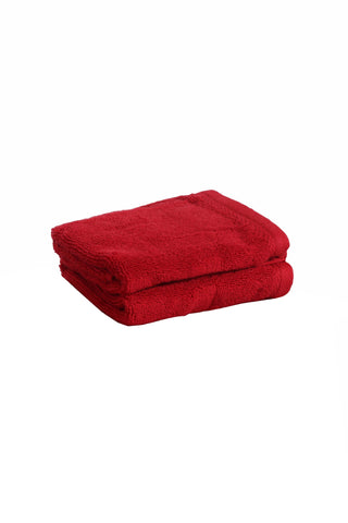 Face Towel Solid Dyed-Red