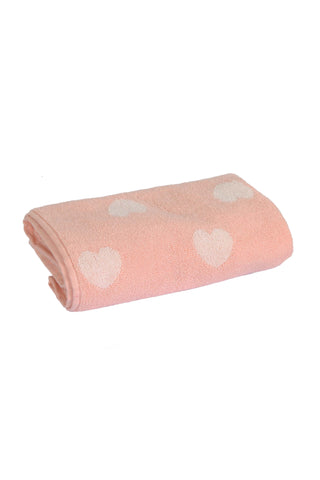Bath Towel Yarn Dyed Jacquard-Pink