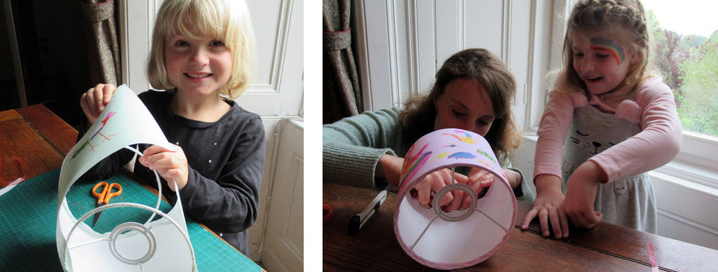 Attaching lampshade rings