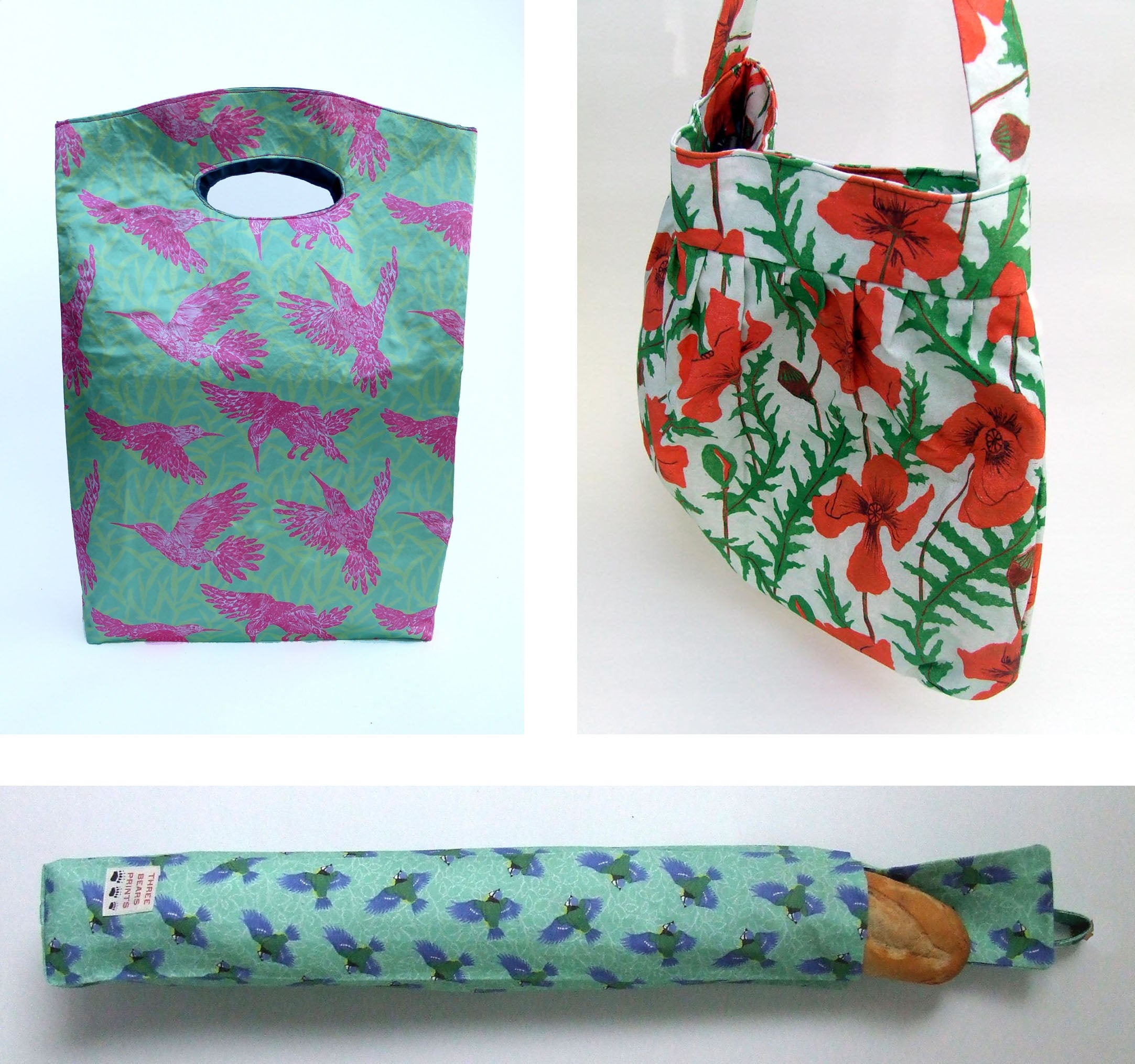 Colourful fabric bags