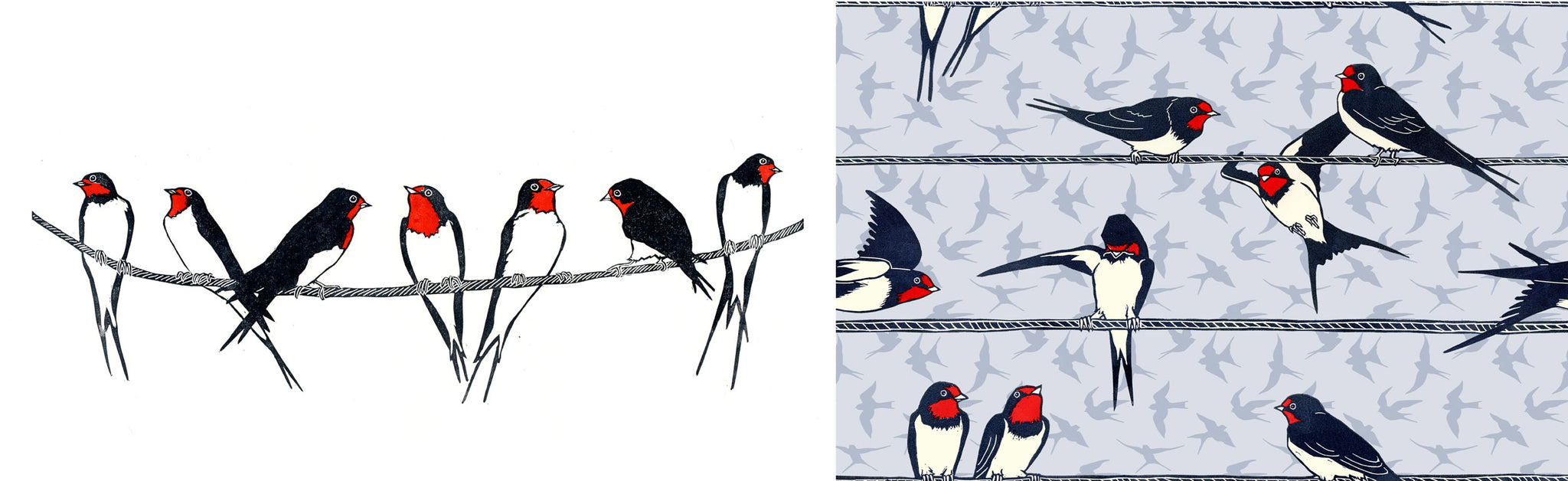 Swallow Fabric Design
