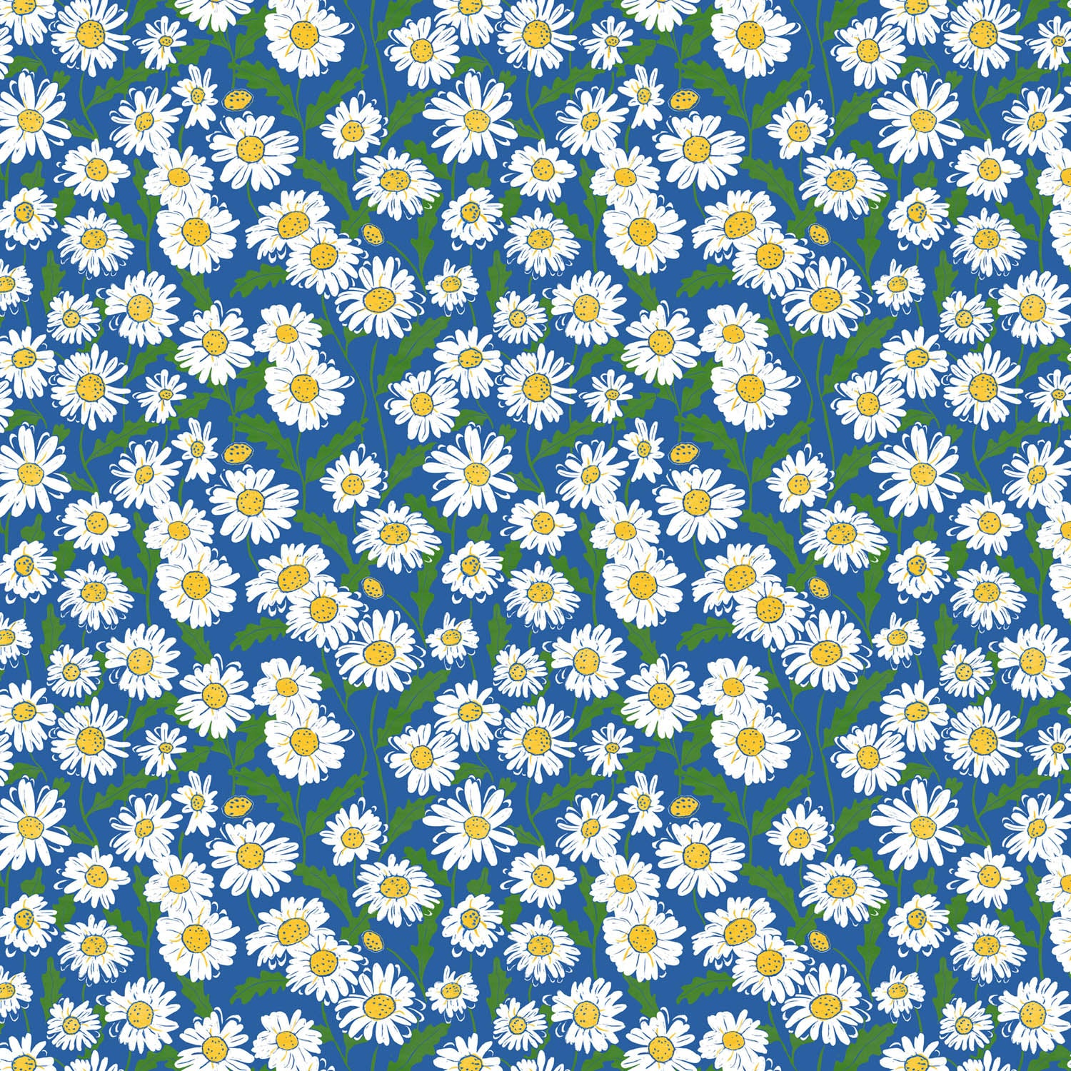 Daisy Pattern by Three Bears Prints