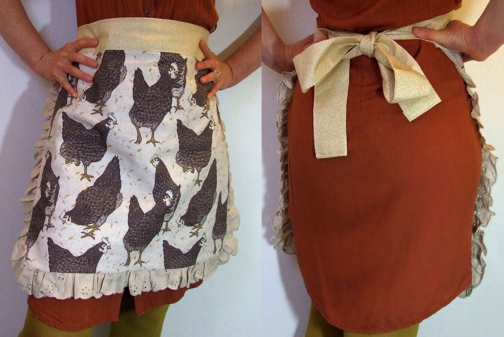 Free Half Apron Sewing Tutorial