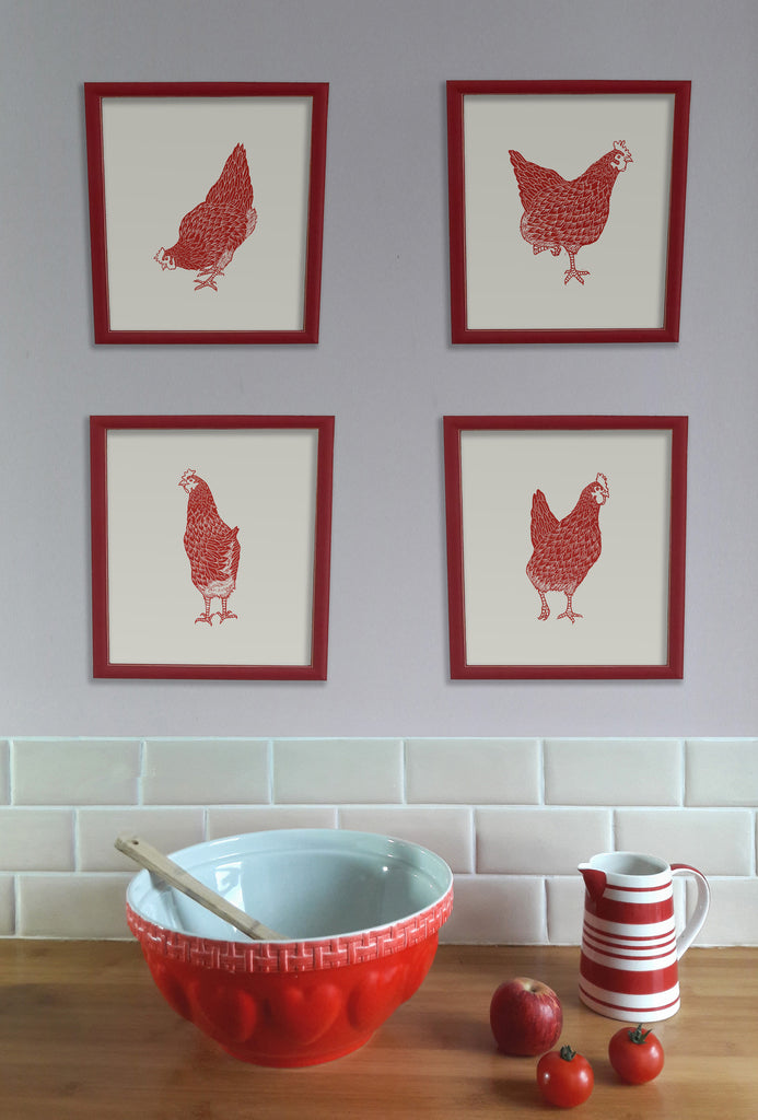 Red Hens Statement Prints