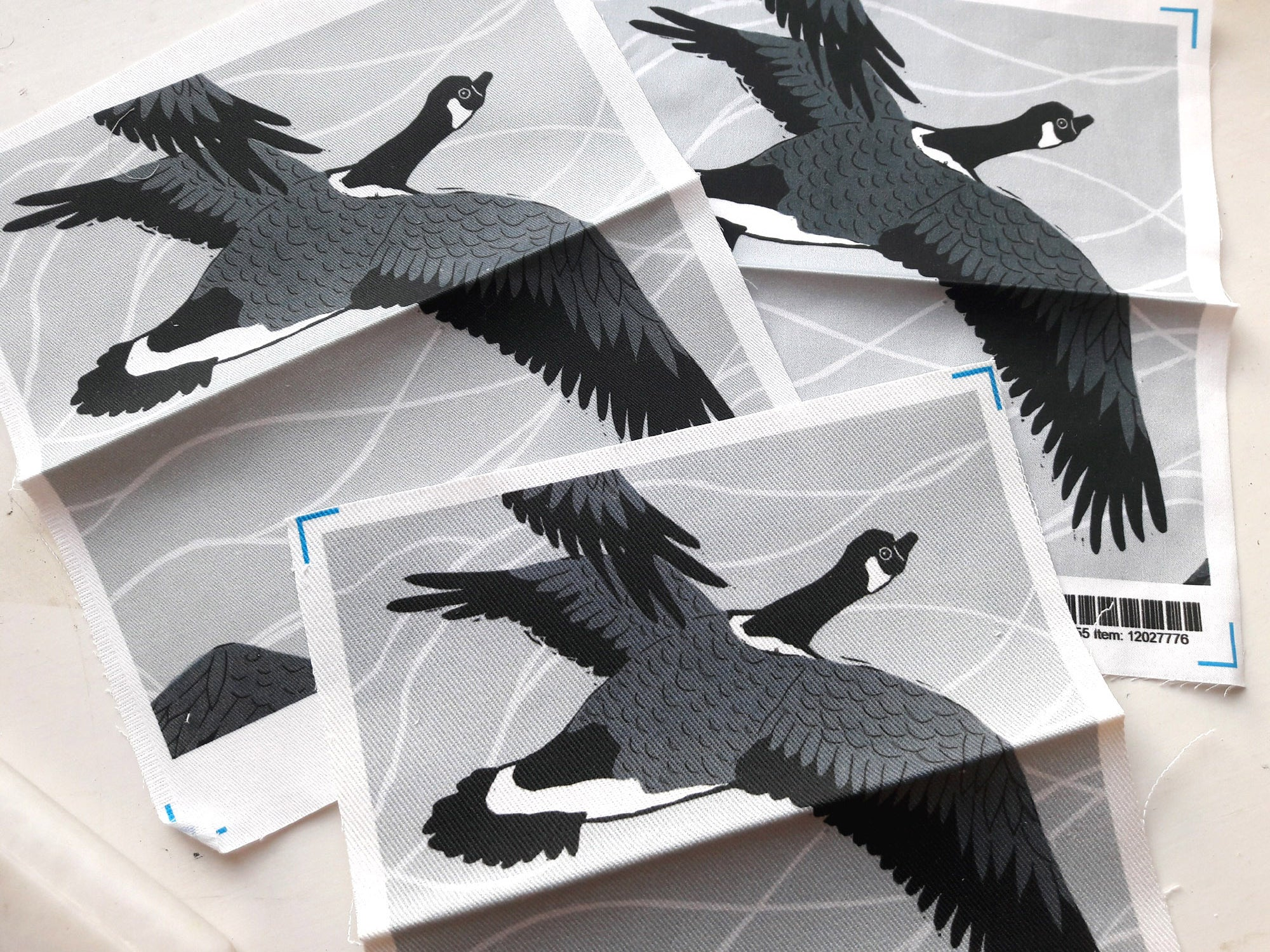 Grey Canadian Geese Fabric