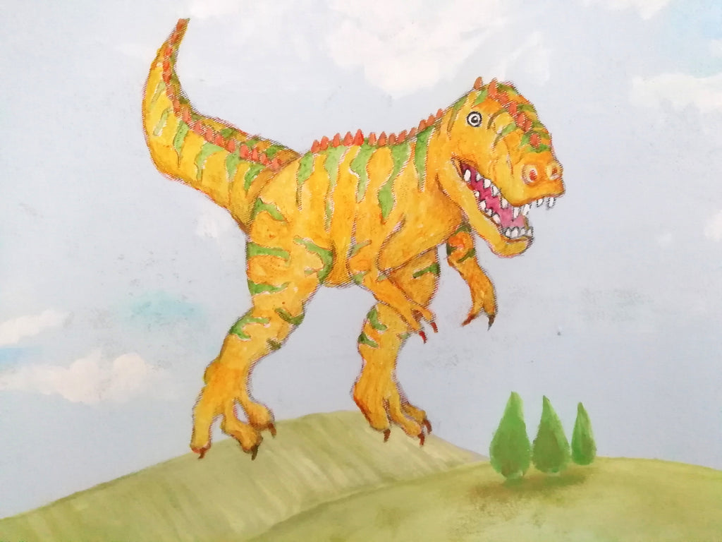 T Rex painting