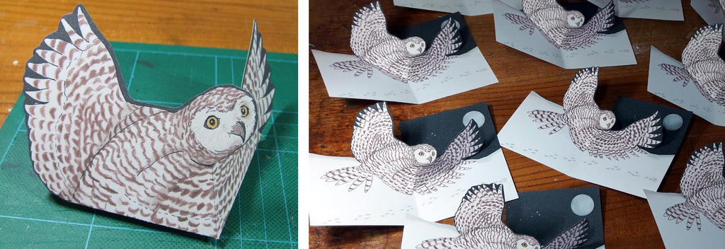 Snowy Owl Christmas Card Tutorial