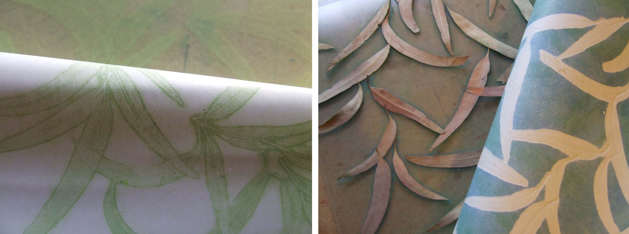 Taking ghost prints of leaves