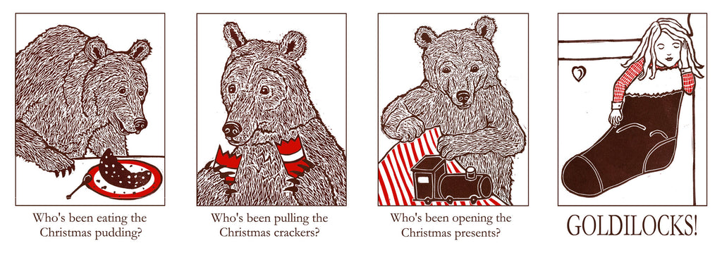 Three Bears Prints Christmas Card