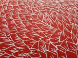 Feather Fabric in Red