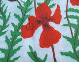Poppy Pattern Fabric