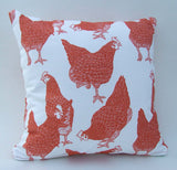 Red Hens Fabric