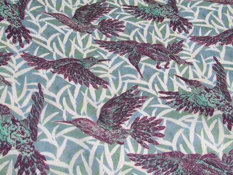 Purple Hummingbird Fabric