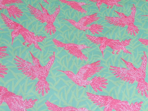 Pink Hummingbird Fabric