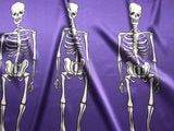 Purple Skeleton Fabric