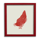 Red Hen Statement Print - Head Down