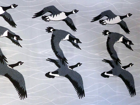 Migrating Canadian Geese Fabric