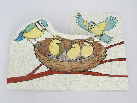 Blue Tit Pop Up Card