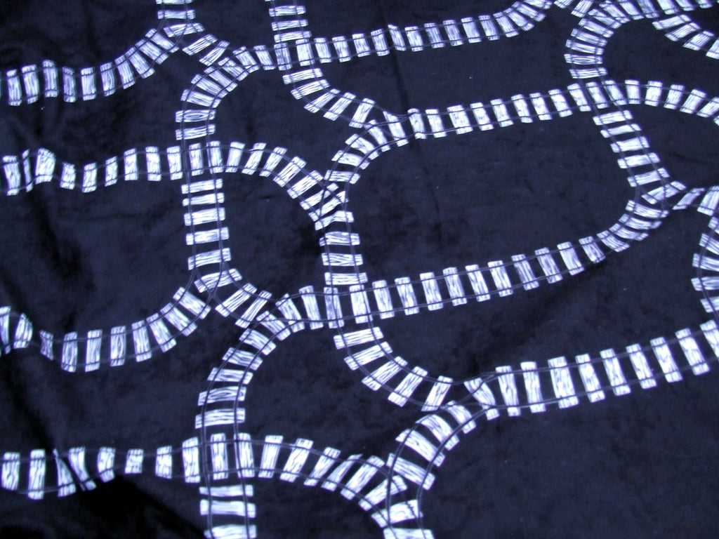 Train Tracks Fabric