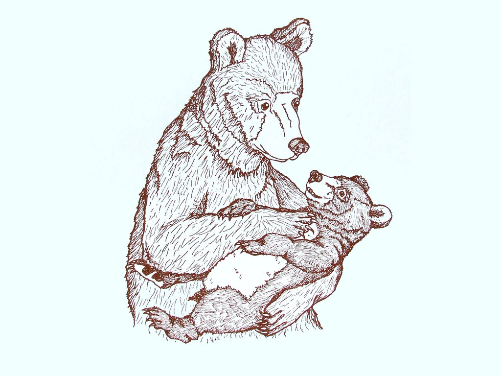Mummy and Baby Bear Print