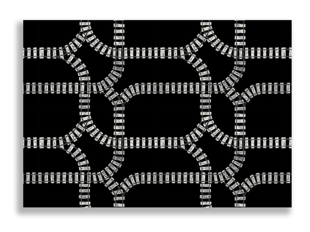 Train Tracks Statement Print