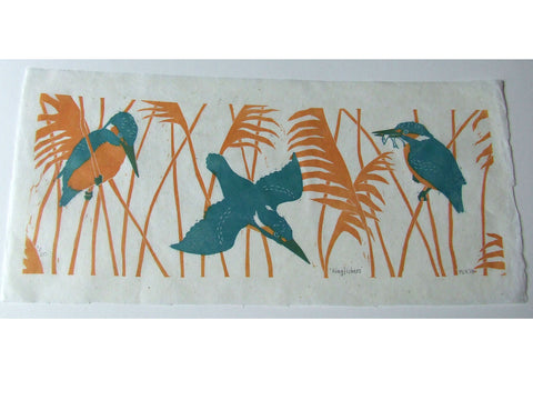 Kingfisher in Reeds Print