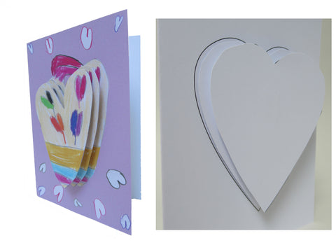 Simple 3D Heart Card