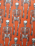 Orange Skeleton Fabric and Paper