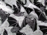 Flying Bats and Insects Fabric