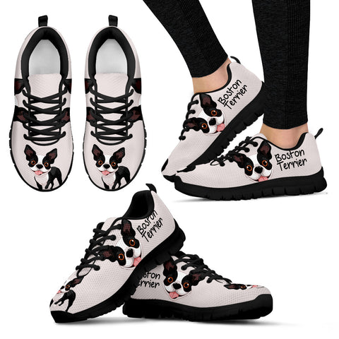 Boston Terrier Stylish Sneakers