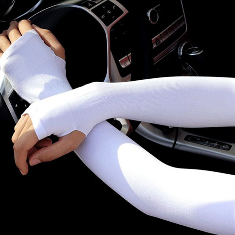 Image of 1 Pair Sun Protection Arm Cooling Sleeve Warmers Cuffs UV Protection Sleeves