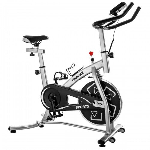 Merax S280 Indoor Cycling Bike Belt Drive Exercise Bike with 22lbs Flywheel