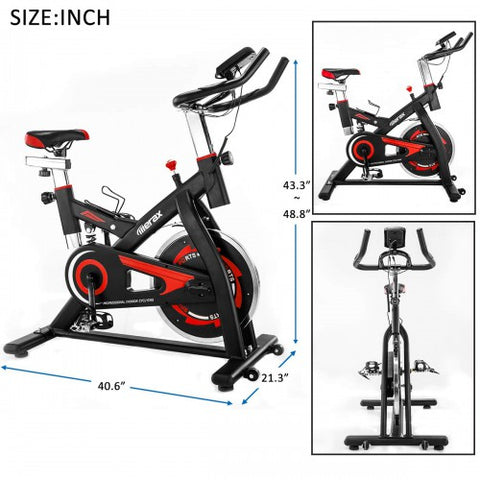 Image of Merax Stationary Professional Indoor Cycling Bike S501 Trainer Exercise Bicycle with 28 lbs. Flywheel and Spring Damper, Multiple Colors