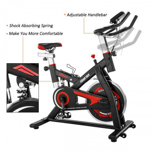 Merax S501 Indoor Cycling Bike Belt Drive Exercise Bike with 28lbs Flywheel