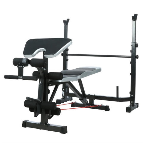 Image of Adjustable Weight Bench Home Fitness Weight/Sit Up Bench Incline Decline Gym Exercise Workout Fitness Equipments