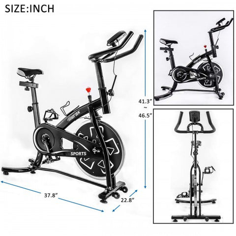 Image of Merax Stationary Professional Indoor Cycling Bike S280 Trainer Exercise Bicycle with 24 lbs. Flywheel, Multiple Colors