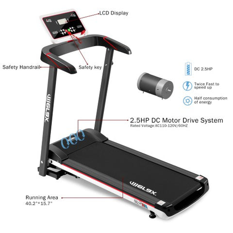 Image of Merax New Fashion A6 Folding Electric Treadmill Home Gym Motorized Power Running Machine